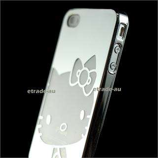 Silver Hello Kitty Chrome Hard Case for iPhone 4