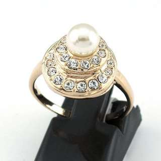 Pearl Ring 18K Yellow Gold Plated  95568