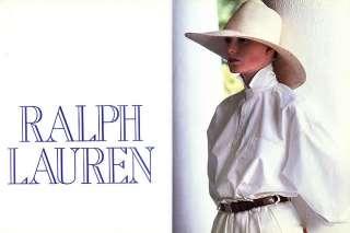 1985 Ralph Lauren tennis lifestyle 3 pg magazine ad