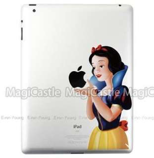 Snow white Apple iPad 2 stickers vinyl Decal art humor Skins Sticker