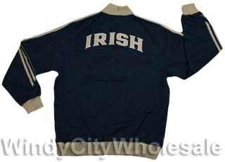 NOTRE DAME FIGHTING IRISH TRACK JACKET COAT NCAA NEW S
