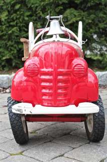 Vintage Fire Truck Metal Pedal Car Thumbnail Image