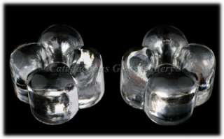 Finnish Crystal Aarika Candle Stick Holders Art Glass
