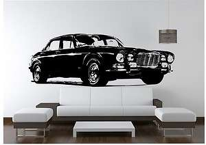 Jaguar XJ6 Classic Gangster Car Vinyl Wall Art Decal Sticker