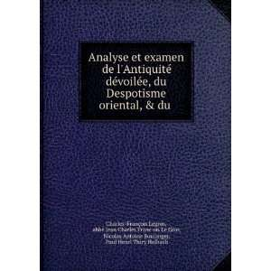 Boulanger, Paul Henri Thiry Holbach Charles François Legros: Books