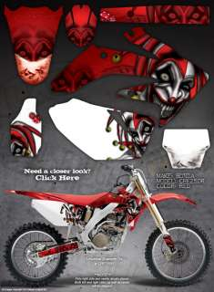 HONDA 2004 05 CRF250 CRF250R GRAPHICS THE EVIL JESTER