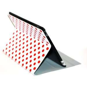 iPad 2 Polka Dots Smart Cover Case (White/Red) with Free