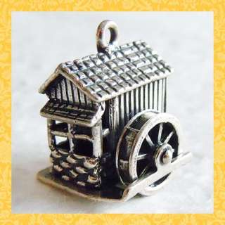 Vintage GRIST MILL ~ MECHANICAL BEAU sterling charm |