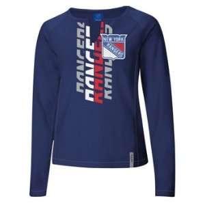 Reebok New York Rangers Womens Astronomy Split Neck Long Sleeve Shirt