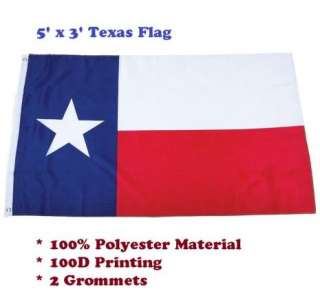 x5 State of Texas Flag Lone Star State Banner 100% Polyster 2