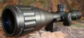 LEAPERS 3 9x40 Parallax Illuminated MilDot Rifle Scope+Flip up Caps