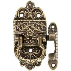 Box Latches. Solid Brass Left Handed Ice Box Latch in Antique By Hand