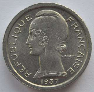 1937 France PTT Public Telephone Fee Token, UNC, BEAUTY. Size  17 mm