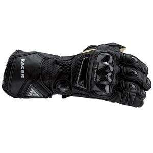 Racer High Racer Leather Gloves   Small/Black Automotive