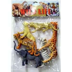 WILD LIFE SAFARI Animals Collection Set   Giraffe, Zebra