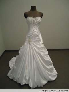 White Ivory Wedding Bridesmaid Gowns Dress Custom 2 40