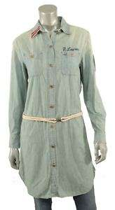 Polo Ralph Lauren Vintage Denim Shirt Dress 2 New $345