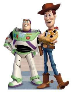 DISNEY TOY STORY WOODY BUZZ LIFESIZE STANDEE STAND UP