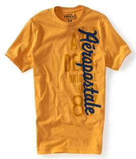 aeropostale mens aero vertical puff graphic t