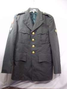 VIETNAM ERA US ARMY GREEN MENS DRESS UNIFORM COAT 37S AIRBORNE 1977