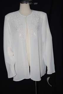 MARIAGE MODE BEADED SHEER DRESS SHIRT WOMAN 18W NWT $69