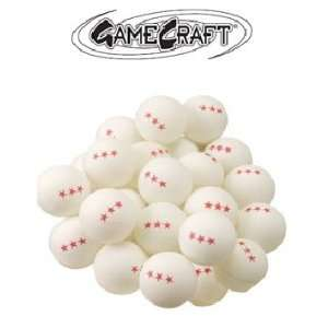 Deluxe 3 Star White Table Tennis Balls  144