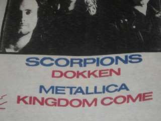 Van Halen Monsters of Rock Tour T Shirt L Vtg Metallica Scorpions
