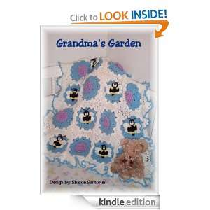 Grandmas Garden baby afghan crochet pattern Sharon Santorum