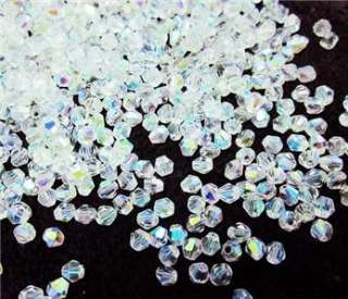 Free 400pcs clear AB Swarovski crystal 5301 4mm Beads