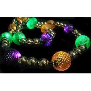 GKI 6 Lighted LED Mardi Gras Beaded Christmas Garland 20 Lights