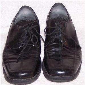 10.5/43.5 Nunn Bush NXXT JET BLACK LEATHER LACE OXFORD Dress Shoe