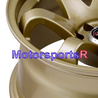 15 15x8 XXR 522 Gold Concave Wheels Rims 4x100 90 91 95 00 05 Mazda