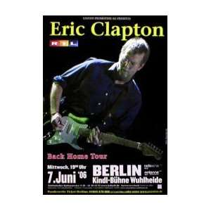 ERIC CLAPTON Back Home Tour Music Poster