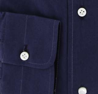 New $425 Borrelli Navy Blue Shirt 15.5/39   ** SALE **
