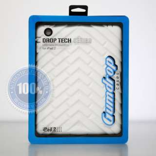 Gumdrop DROP TECH SERIES iPad 2 Case WHITE BLACK NEWEST VERSION (V2