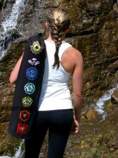 ALL 7 CHAKRA SYMBOLS EMBROIDERED ONTO A DURABLE, 100% HIGH QUALITY