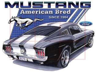1967 Ford Mustang Fastback Official T shirt 7055