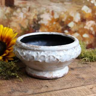 Shabby Cottage Chic White Garden Planter Pot Decor