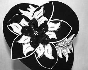 Church Derby Black White Wool Felt Tea Wedding Winter Dress Formal Hat