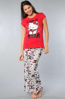 Hello Kitty Intimates The Totally Cute Star PJ Set Red