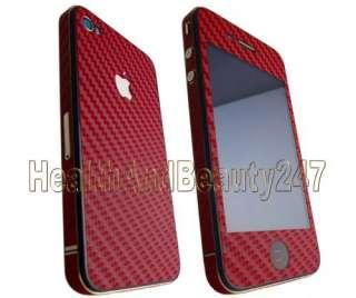 iPhone 4 White Carbon Fibre   Back + Bumper Skin Kit