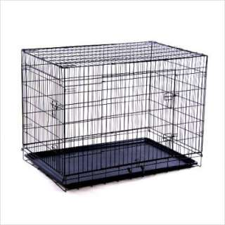 Aosom Double Door Wire Dog Crate X Large (48 L x 30 W x 33 H) 5663