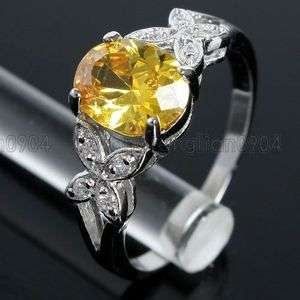 8ct Citrine Cubic Zirconia 18k Gold Plated Fashion Ring Free