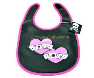 SOURPUSS Baby Kids Bib True Love Rockabilly Punk Tattoo