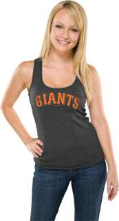 San Francisco Giants Womens Heather Black Tri Blend Tank Top