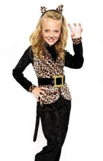 Girls Leopard Kitty Cat Outfit Halloween Costume 4 6