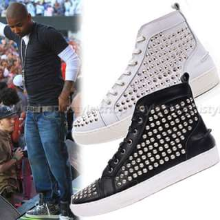 Mens Celebrity Spike Studded Shoes Mid top Sneakers