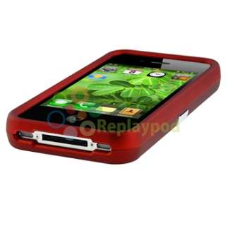 Purple+Red Chrome Stand Skin Case Cover Accessory For Verizon iPhone 4