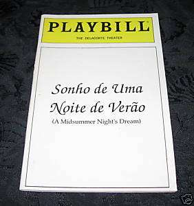 Playbill A MIDSUMMER NIGHTS DREAM Duckbilled Platypus