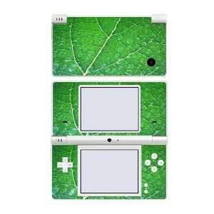 Nintendo DSi Skin Decal Sticker   Green Leaf Texture